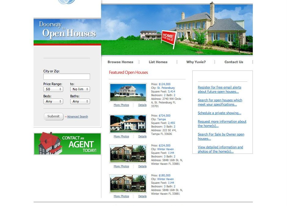 Case Study: Open House Search Website